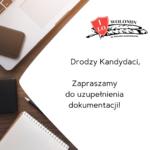 REKRUTACJA – informacje dla kandydatów