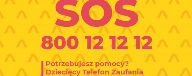 Całodobowy Dziecięcy Telefon Zaufania – 800 12 12 12 i czat internetowy: https://brpd.gov.pl/sos-czat/