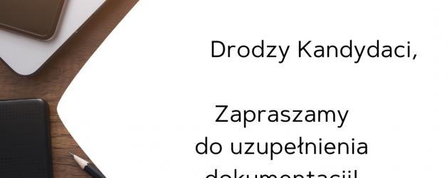 Kwestionariusze dla kandydatów do I LO im. W. Nałkowskiego w Wołominie